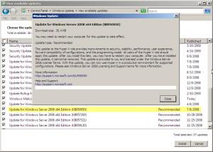 Hyper-V RTM downloaded automatically
