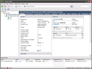 vSphere Client with virtual ESX