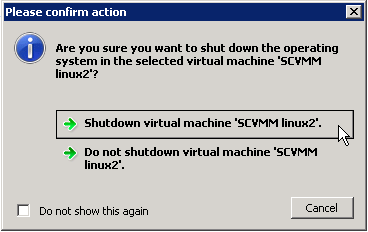 Shut down VM from Failover Cluster Manager