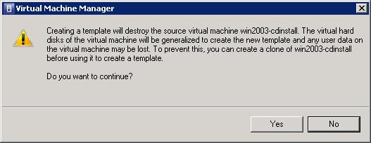 Creating a template destroys the original VM