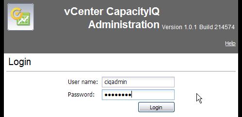 CapacityIQ Admin Portal