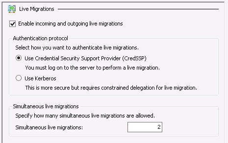 Default live migration limit in Hyper-V 3: 2