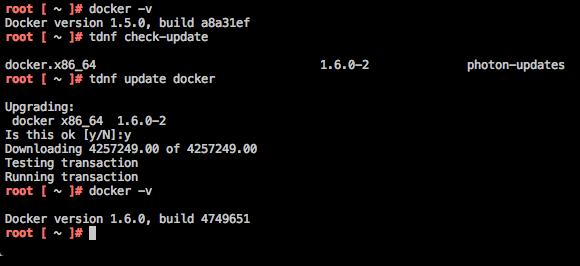 Update Docker with TDNF