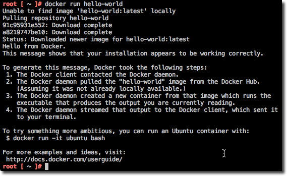 Docker 1.6 Hello World