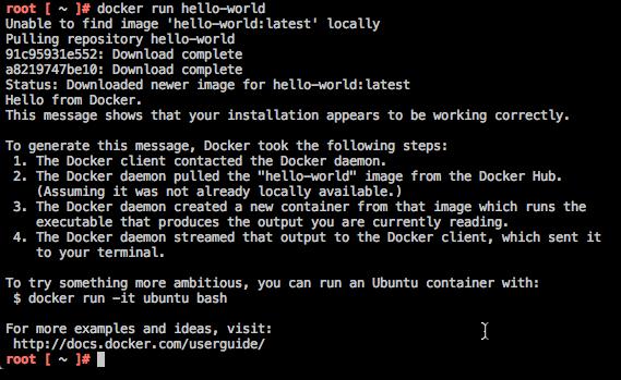 Docker 1.6 Hello World